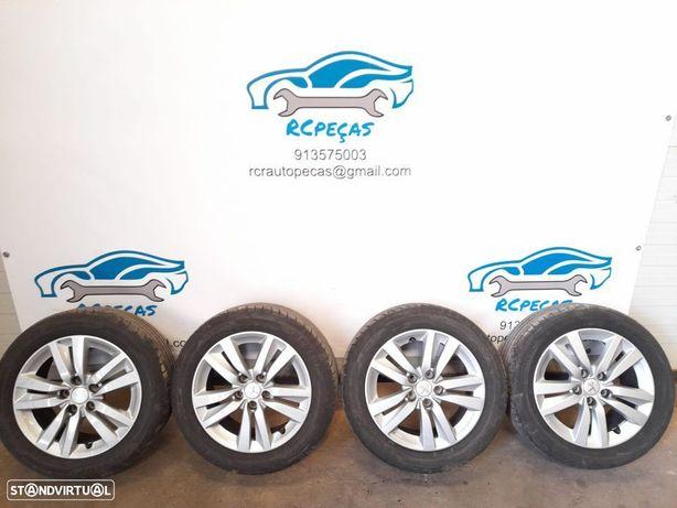 Jantes 16 Peugeot 508 / 308 - 7j - 5x108 - et44 com pneus 205/55 Dunlop