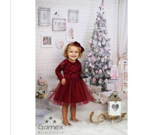 Idealna na święta. Sukienka koronkowa. Rozmiar 92