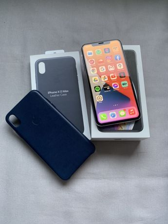 Apple IPhone Xs Max, 256GB, bateria 93%, srebrny + oryginalne nowe etu