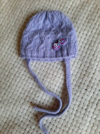 Шапуля шапка шапочка на 3 6 9 месяцев совушка