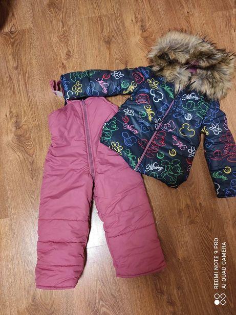 Зимний комбинезон комбез курточка куртка полукомбинезон