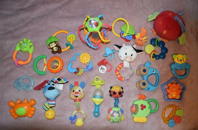 Gryzaki + zabawki dla niemowlaka - zestaw