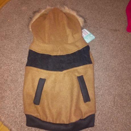 Brązowo czarny sweterek dla psa