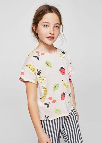mango kids nowa śliczna bluzka owoce 128