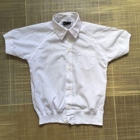 Белая рубашка короткий рукав школьная шкільна сорочка
