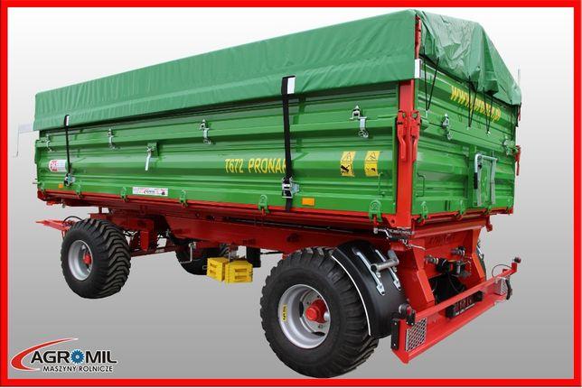 Przyczepa dwuosiowa T672 8 ton Pronar przyczepy RABATY