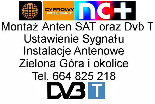 Montaż ustawianie Anten SAT oraz TV naziemnej Zielona Góra i okolice.