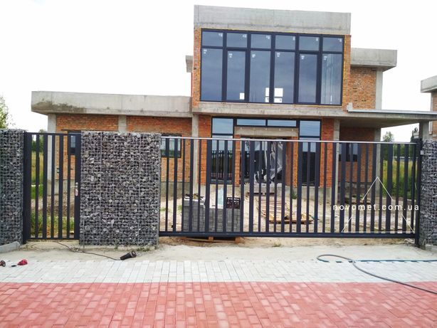 Откатные ворота(сдвижные), распашные ворота, калитка, забор, выдвижные
