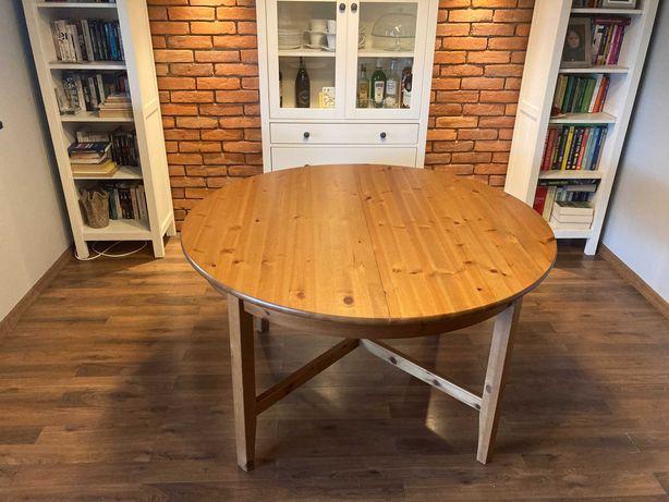 Stół okrągły rozkładany ikea Leksvik