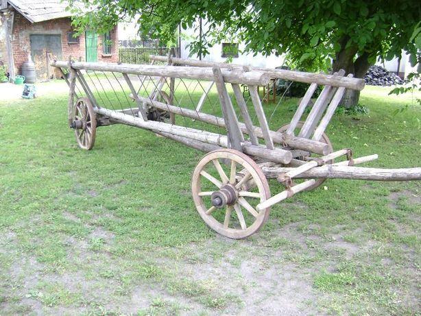 Wóz Konny drabiniasty na drewnianych osiach UNIKAT