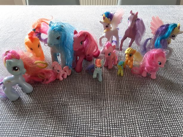 Zestaw kucyki Pony/ Celestia 2 x, Rainbow Dash,../ 12+1 szt