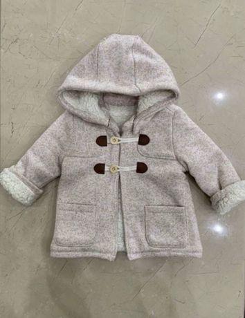 Пальто h&m куртка демисизонное 74/80 см,9-12мес, gap,chicco,mayoral