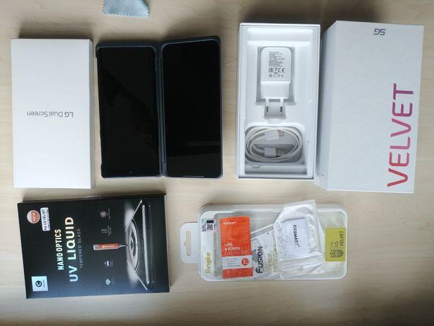 LG VELVET + Dual Screen+ Etui + Szkło NOWY SUPER Zestaw MEGA CENA !!