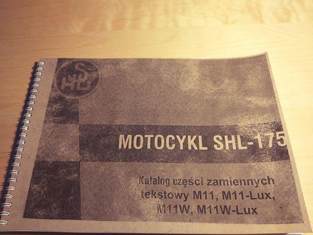 Katalog części zamiennych tekstowy SHL-175 M11, M11-Lux, M11W