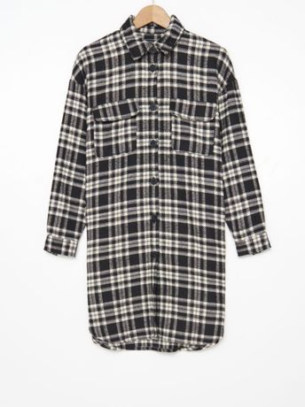 flanelowa sukienka koszulowa