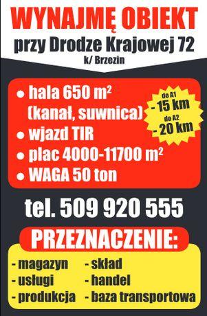 Do wynajęcia Hala, Magazyn, Waga, Plac, blisko A1 i A2