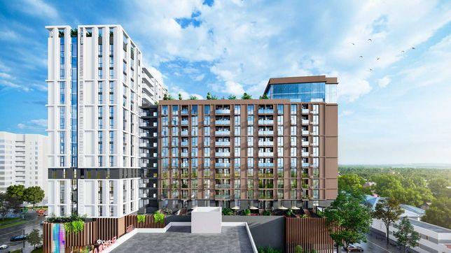 Апартаменты центр 1-ком с инд терасой ЖК Capital Tower 78,41 кв.м