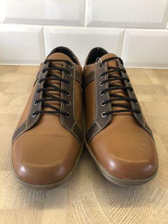 Skórzane Sneakersy Sznurowane VARESE Made in Italy Nowe roz 42
