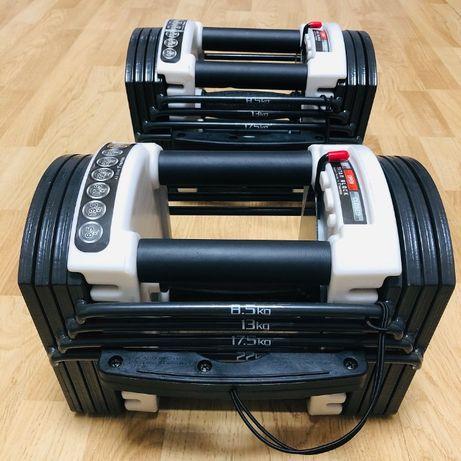 Гантели наборные блочные 2 штуки по 22 кг, комплект