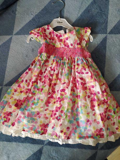 Kolorowa zwiewna Sukienka na lato 80 86 M. Co
