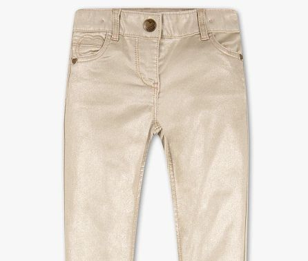 Nowe lekko błyszczące spodnie dziewczęce 104 cm