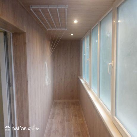 Обшивка балконов, лоджий. Внутренняя.