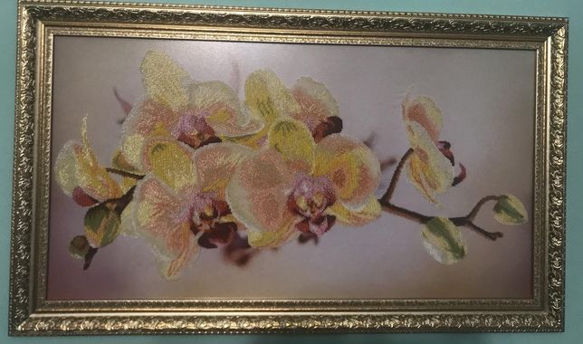 Картина вишита бісером орхідея, бісер чеський