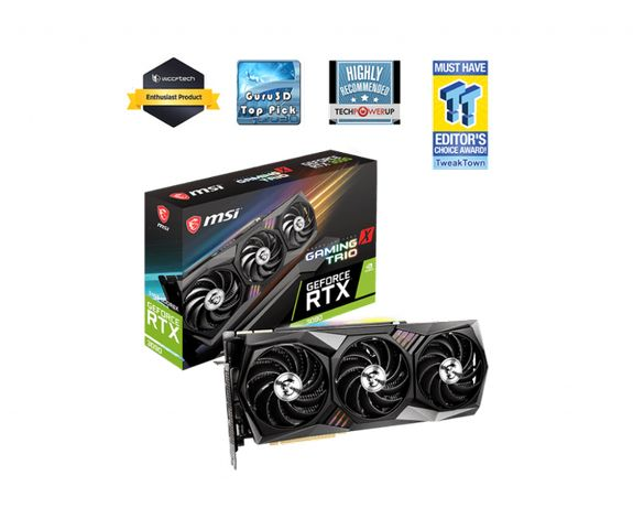 RTX3090_GAMING_X_TRIO24G 0 Видеокарта MSI GeForce RTX3090 24GB GDDR6X