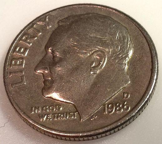 ONE DIME монета 1986 D (U.S.A.)