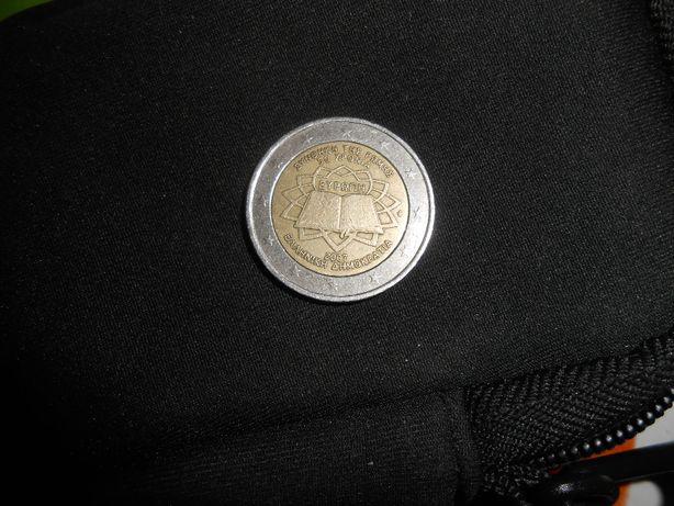 Moeda 2 euros 2007 tratado de roma 50 anos da Grecia