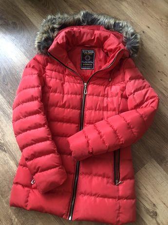 kurtka zimowa czerwona ciepła