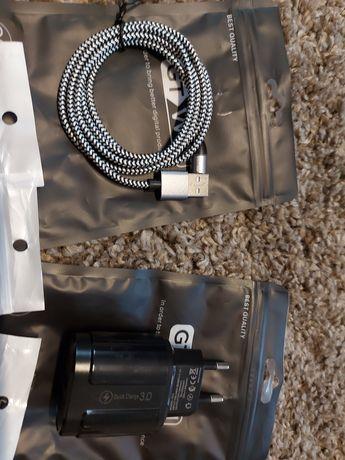 Kabel magnetyczny 3A - Micro USB, Type C, iPhone + 3 smycze
