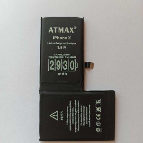 Аккумулятор ATMAX iPhone 5, 5s, 6, 6s, 7, 8, 8p, X-12 мес.гар.