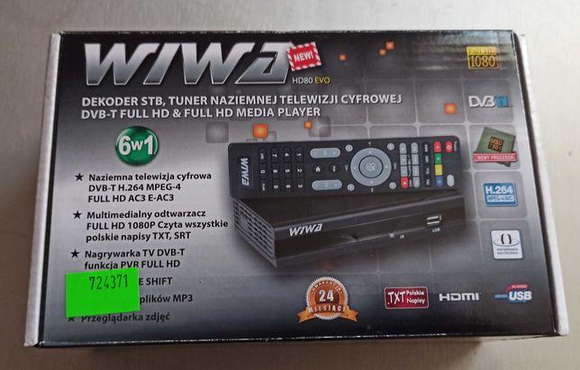 tuner dvb-t telewizja naziemna HD nagrywanie Wiwa HD 80 EWO