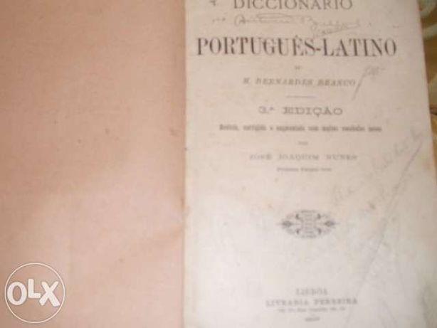 Dicionário Português - Latino de 1897