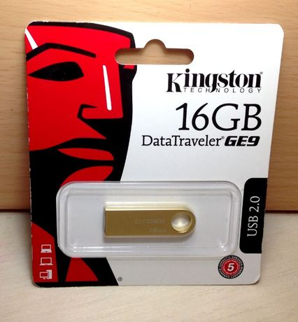 Флешка позолоченая Kingston DataTraveler GE9 USB-накопитель DTGE9 16GB