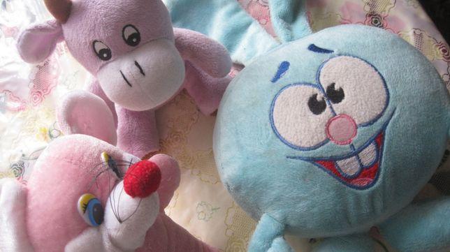 мякі іграшки Крош Мілка бичок корова мишка маус игрушка мягкая