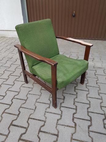 Fotele retro drewno 2 sztuki