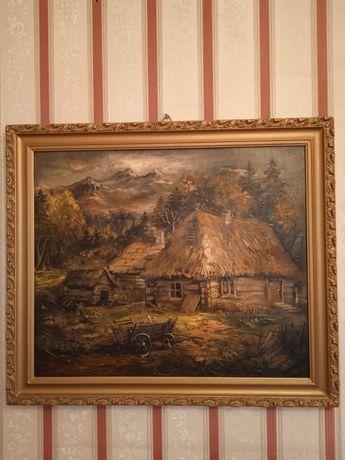 Obraz olejny na desce 1927 r