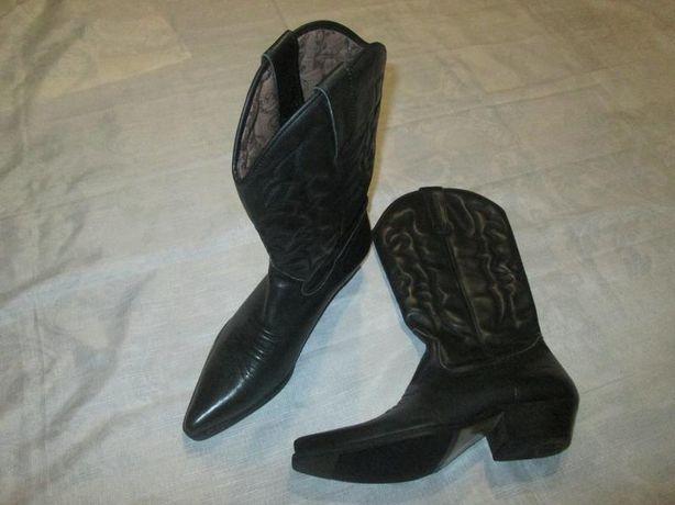 Кожаные ковбойские байкерские сапоги el pancho ботинки казаки р 42 -43