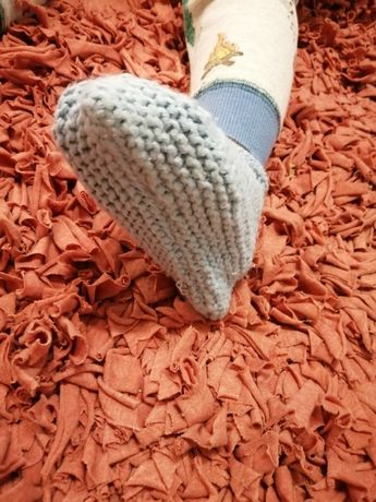Buciki bambosze obuwie po domku, wełniane handmade, nowe, wysylka