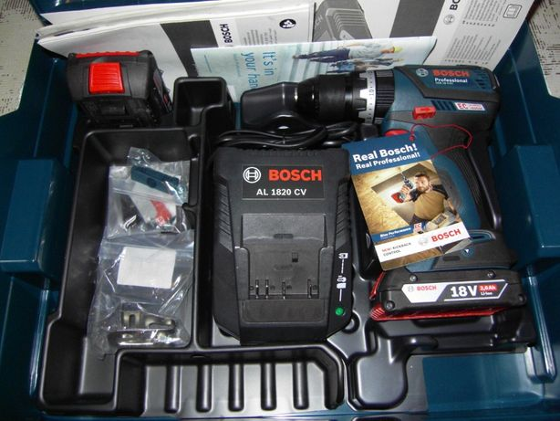 Wiertarko-wkrętarka Bosch GSB 18V-EC 2x2,0Ah L-boxx