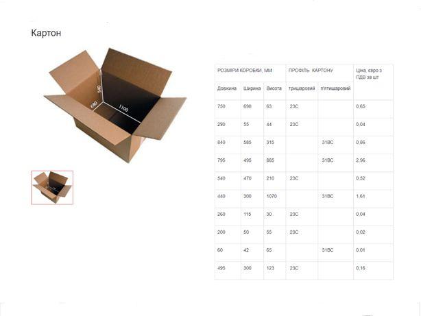 Различных форм картонная упаковка