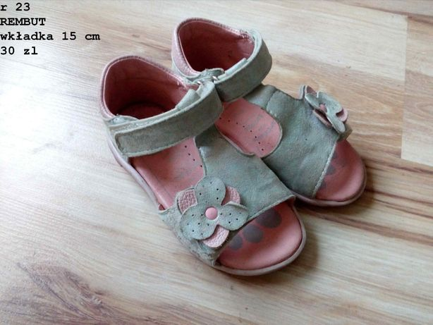 Sandały 23 rembut dziewczęce, dla dziewczynki sadałki