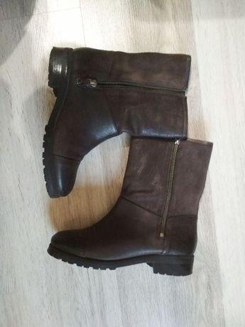 Стильные кожаные ботинки geox со стелькой антистресс