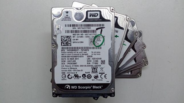WD Black Жесткий диск 320гб, HDD 320GB, WD Black Scorpio 320GB Sata