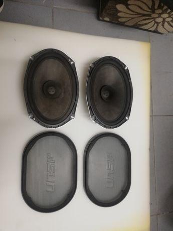 Głośniki 20w 4ohmy rozmiar 24, 5x16.cm plus maskownice komplet.