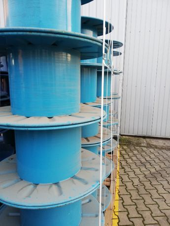Szpule metalowe niebieskie do nawijania 76 cm
