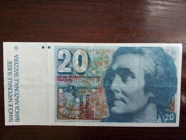 Banknot 20 franków Szwajcaria