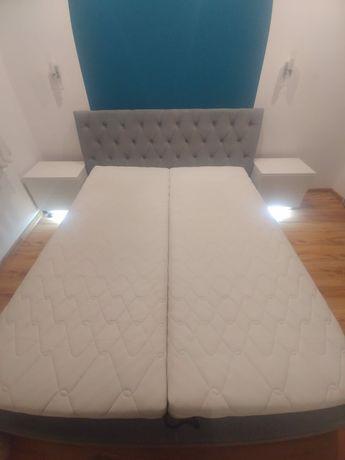 Łóżko sypialniane 220x180 z szafeczkami nocnymi